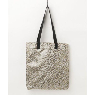 ground green store / L'AURA / BOX10 / スクエアパターン柄トートバッグ WOMEN バッグ > トートバッグ