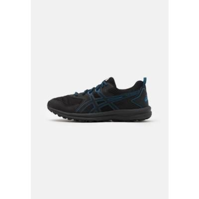 アシックス メンズ スポーツ用品 SCOUT - Trail running shoes - black/reborn blue