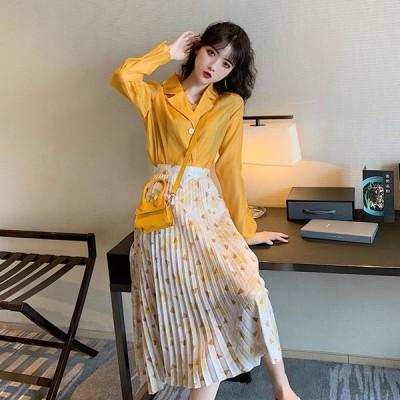 2020 夏 新作 レディースファッション 合わせやすセハイウェストスカート