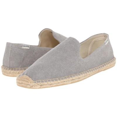 ソルドス Soludos メンズ ローファー スモーキングスリッパ シューズ・靴 Smoking Slipper Washed Canvas Light Gray