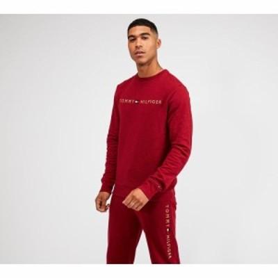 トミー ヒルフィガー Tommy Hilfiger メンズ スウェット・トレーナー トップス lounge logo sweatshirt Rhubarb