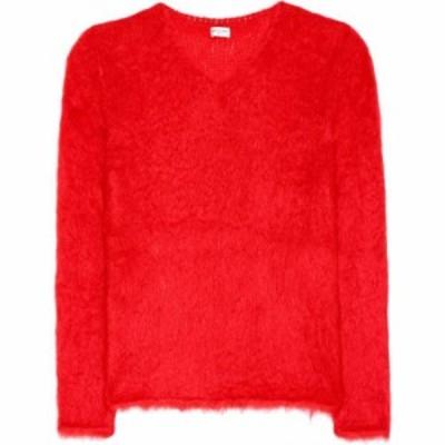 イヴ サンローラン Saint Laurent レディース ニット・セーター トップス Mohair-blend sweater Rouge