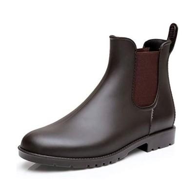 [MERPHINE] レインブーツ レインシューズ レディース メンズ 雨靴 園芸 ショート ブーツ 防水 シンプル サイドゴア