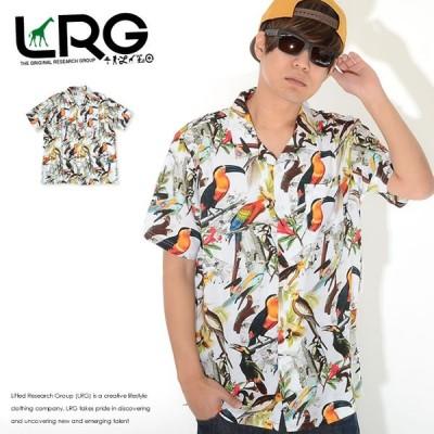 LRG エルアールジー 半袖シャツ 総柄 マルチバード (B202002) セール