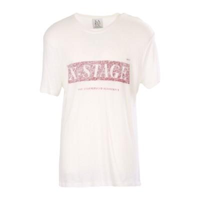 エトレセシル ÊTRE CÉCILE T シャツ ホワイト L 麻 55% / レーヨン 45% T シャツ