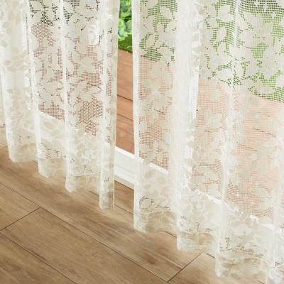 【58サイズ】こもれびのような綿混レースカーテン[日本製]