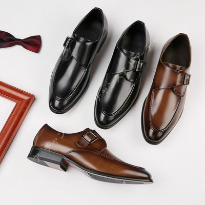 ビジネスシューズ メンズ 本革 革靴 紳士靴 皮靴 ウォーキング スーツ 黒 ストレートチップ 外羽根 とんがりトゥ 冠婚葬祭 防滑 通勤 防水 幅広 軽量 通気