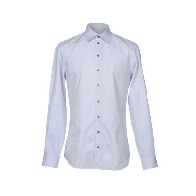 アルマーニ コレッツィオーニ ARMANI COLLEZIONI シャツ ライトグレー XL 100% コットン シャツ