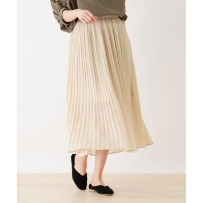 SHOO・LA・RUE(シューラルー) シアーラメプリーツロングスカート