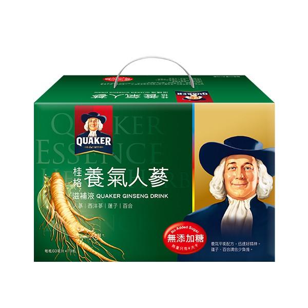 桂格無糖養氣人蔘盒裝(19瓶入)【康是美】