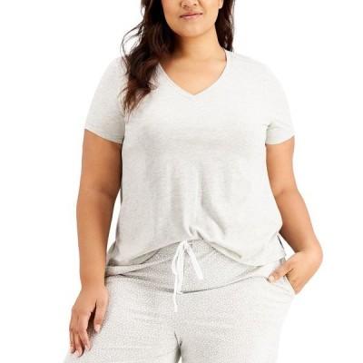 チャータークラブ Tシャツ トップス レディース Plus Size Sleep T-Shirt, Created for Macy's Dove Grey Hther