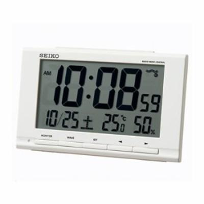 セイコー【SEIKO】電波目覚まし時計 温度湿度表示付き SQ789W★【SQ789W】
