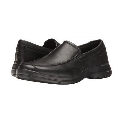 Rockport ロックポート メンズ 男性用 シューズ 靴 ローファー Junction Point Slip-On - Black