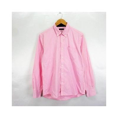 【中古】ジュンメン JUN MEN シャツ 長袖 ボタンダウン 胸ポケット L1 ピンク ※EKM メンズ 【ベクトル 古着】