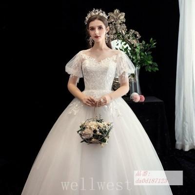 ウエディングドレスワンピース小きいサイズお呼ばれ袖あり結婚式50代披露宴ウェディングドレス40代30代20代ウェデイングドレス二次会