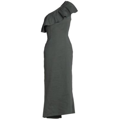 エー・エル・シー A.L.C. 7分丈ワンピース・ドレス 鉛色 0 ラミー 51% / レーヨン 47% / ポリウレタン 2% 7分丈ワンピース・