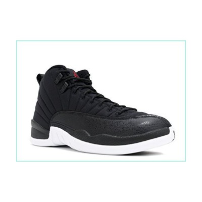 Nike Men's Air Jordan 12 Retro Black Basketball Shoes Sneakers (Size: 18) (US 18, Black/White)【並行輸入品】