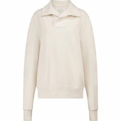 レス ティエン Les Tien レディース スウェット・トレーナー トップス Yacht cotton fleece sweatshirt Ivory