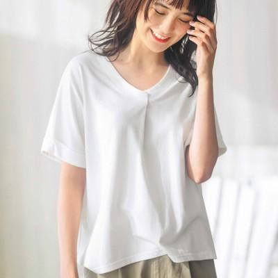 GeeRA 【3L】タックデザインTシャツ ピンク 3L レディース