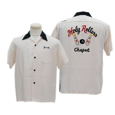 """STYLE EYES スタイルアイズ SE38617 RAYON BOWLING """"HOLY ROLLERS""""(105:OFF WHITE)"""