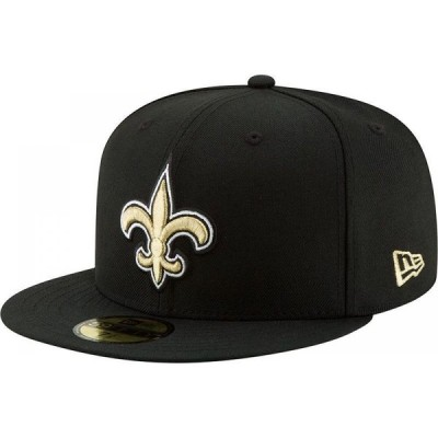 ニューエラ New Era メンズ キャップ 帽子 New Orleans Saints Black 59Fifty Logo Fitted Hat
