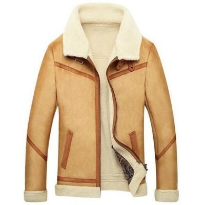 メンズ 裏ボア 裏起毛 ミリタリージャケット  大きいサイズ フライトジャケット 防風 軍物 切替 お兄系 アウター