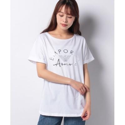 【ボディライフ】 エンポリオアルマーニ ロゴラバークルーネックTシャツ ユニセックス ホワイト M BODY LIFE