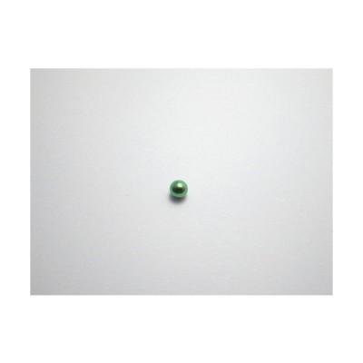 新潟 燕三条 純チタンピアス 片耳 球φ3.0 フローラルグリーン緑  金属アレルギーの方も安心