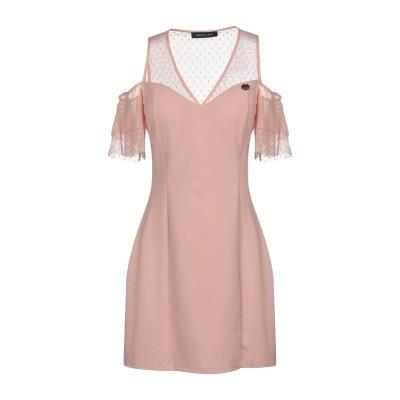 MANGANO ミニワンピース&ドレス ピンク L 96% ポリエステル 4% ポリウレタン ミニワンピース&ドレス