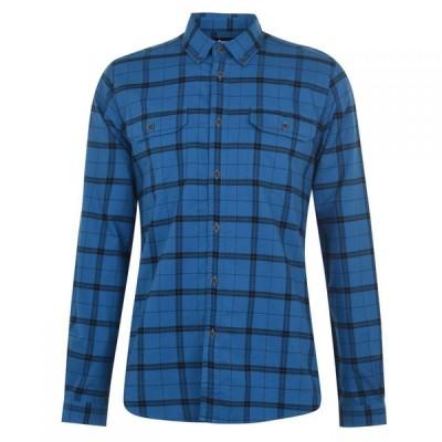 バブアー Barbour International メンズ シャツ トップス Grid Check Shirt Aqua