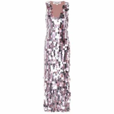 ダイアン フォン ファステンバーグ Diane von Furstenberg レディース ワンピース ワンピース・ドレス Embellished silk dress Silver/ma