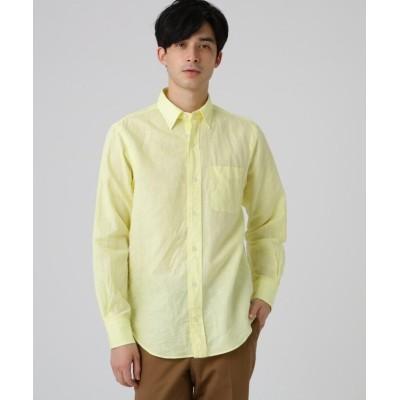 【ドレステリア】 綿/麻交織シーチングシャツ メンズ レモンイエロー 91(M) DRESSTERIOR