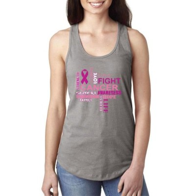 レディース 衣類 トップス Womens Breast Cancer Awareness Racerback Tank Top タンクトップ