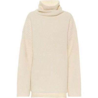 ジョゼフ Joseph レディース ニット・セーター トップス Ribbed-knit wool turtleneck sweater Ivory