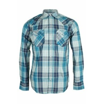 Levis リーバイス ファッション アウター Levis Mens Long Sleeve Western Cut Snap Plaid Shirt