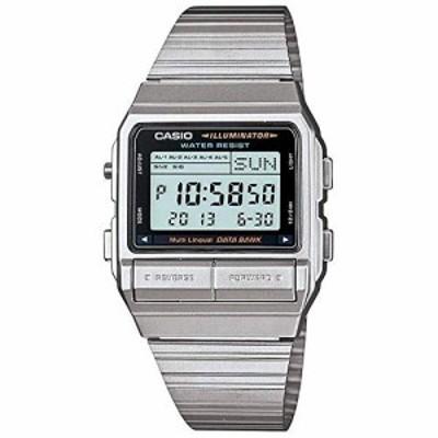 腕時計 カシオ メンズ Casio Men's DB380-1 Silver Stainless-Steel Quartz Watch with Digital Dial