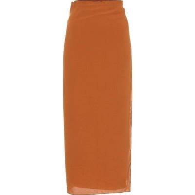 ヘイト Haight レディース ひざ丈スカート ラップスカート スカート Wrap midi skirt Caramel