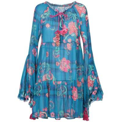 アンジュナ ANJUNA ミニワンピース&ドレス ターコイズブルー XS コットン 65% / シルク 35% ミニワンピース&ドレス