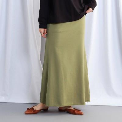 ジェット JET 【ウォッシャブル】ウエストゴムサイドラインスウェットスカート (カーキ)