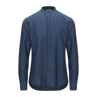 パオロ ペコラ PAOLO PECORA シャツ ブルーグレー 42 コットン 72% / リネン 28% シャツ
