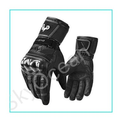 INBIKE Winter Goat Skin Leather Motorcycle Gloves,Waterproof Windproof Cold Weather Thermal Black X-Large【並行輸入品】
