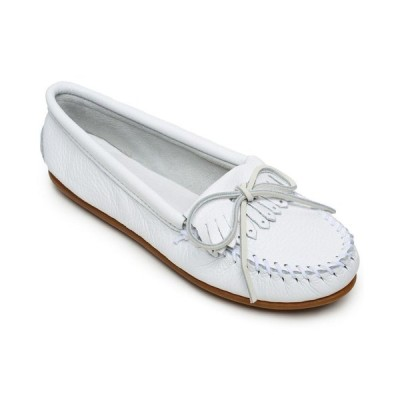 ミネトンカ Minnetonka レディース ローファー・オックスフォード シューズ・靴 Deerskin Kilty Moccasins White