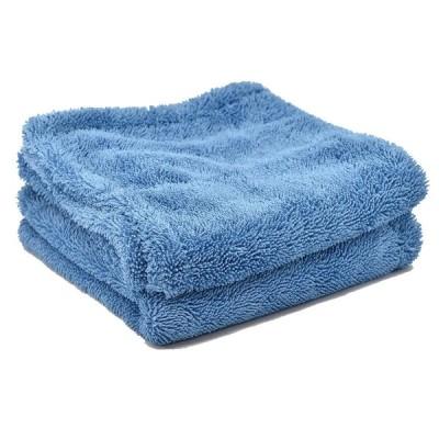 [TARO FIBER] お掃除クロス キッチンクロス プレミアム マイクロファイバータオル 【スーパーループ】 滑らか 超吸水 40×40 2枚セット ブルー