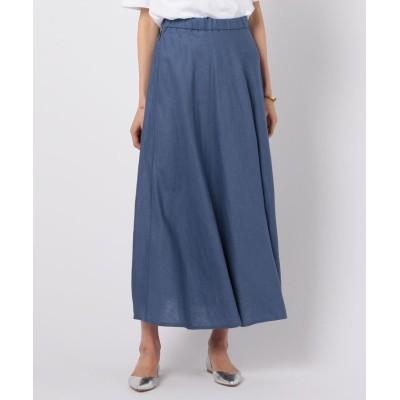 【ノーリーズ】 リネンマキシスカート レディース グレイッシュブルー 2 NOLLEY'S