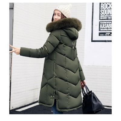 ダウンコートダウンジャケットレディース服大人冬服コートアウターサイドスリット厚手フェイクファーカジュアル防寒暖かい優しい印象