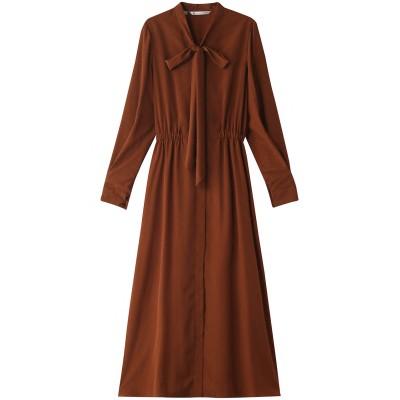 HELIOPOLE エリオポール 【Traditional Weatherwear】BOWTIE DRESS OP/ワンピース レディース ブラウン S