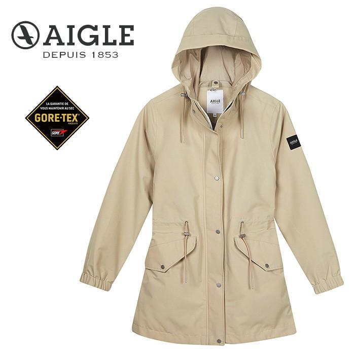 【AIGLE 法國】ANIKER GORE-TEX 防水外套 風衣 女款 卡其色 (AG-0A209-A150)