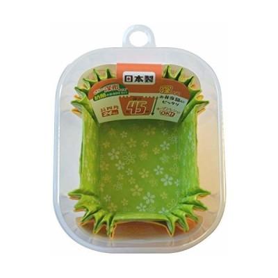 ヒロカ産業 抗菌小花おかずカップ さらに深形長四角 24枚入 深さ約45mm 抗菌 オーブンレンジ可 日本製 オレン