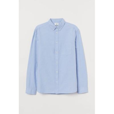 H&M - レギュラーフィット オックスフォードシャツ - ブルー