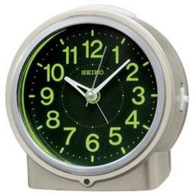 SEIKO セイコー 目覚まし時計 自動点灯 アナログ 集光樹脂文字板 夜でも見える 薄金色パール KR886G【お取り寄せ】